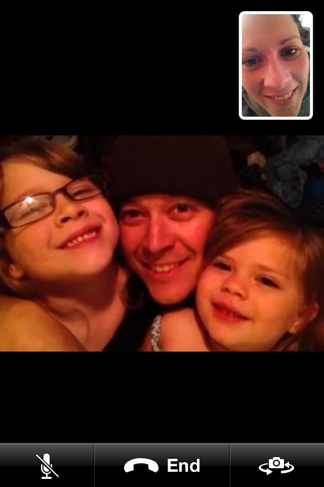 FaceTime call with Karyn, Zion, Eden and me